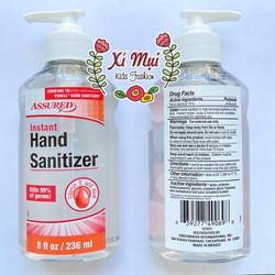 Nước rửa tay dạng gel Assured Hand Sanitizer lô hội và vitamin E