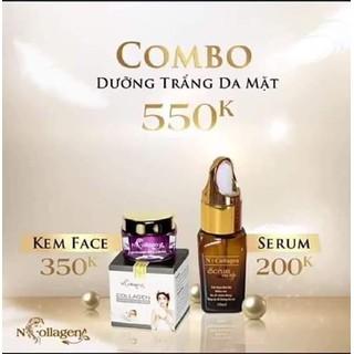 COMBO DƯỠNG TRẮNG DA MẶT N COLLAGEN - COMBO 2 SẢN PHẨM thumbnail