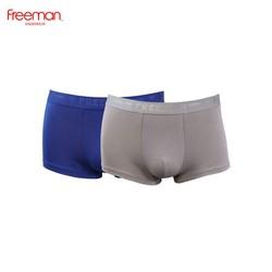 Quần lót boxer nam Freeman, chất liệu cotton cao cấp, thấm hút mồ hôi tốt [Combo 2] 6522