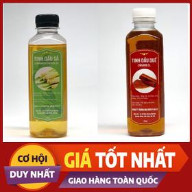 COMBO Tinh dầu Sả + Quế nguyên chất đuổi côn trùng, làm thơm phòng-DA2020 - Sả+ quế - Tinh dầu