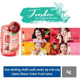 Son dưỡng có màu Lipice Sheer Color Fruit Juice 4g - son dưỡng 02
