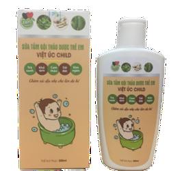 Sữa Tắm Gội Thảo Dược Trẻ Em- Việt Úc Child - Đặc Trị Cứt Trâu-200ml