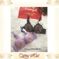 SALE SALE SALE - Áo lót nữ Triumph Diva 286 WHU áo ngực ren xẻ V sâu.