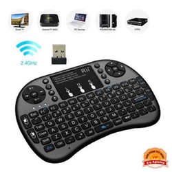 Bàn phím không dây mini keyboard kiên chuột cảm ứng đa năng wireless