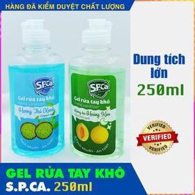[ SIÊU SALE ] Gel rửa tay khô kháng khuẩn SPCA Tinh chất trà xanh và Trái Cây 250ml xuất Châu Âu , HSD đến tháng 03-2022 - Gel rửa tay khô SPCA