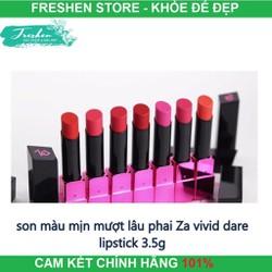 Son màu mịn mượt lâu phai Za Vivid Dare Lipstick 3.5g