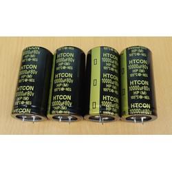 Tụ Amply HTCON 10000uF 80V Với Kích Thước 7 X 3,5 Chất Lượng Cao - 1 Cái