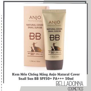 Kem Nền Chống Nắng Anjo Natural Cover Snail Sun BB SPF50+ PA+++ 50ml - Chính Hãng Hàn Quốc - KNCN941565 thumbnail