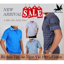 Áo Thun Nam Trung Niên Chất Vải cotton cao cấp size từ 50-85kg