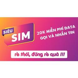 Sim Miễn Phí Phí Data Giá Rẻ - Chỉ 20k.tháng