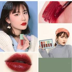 Son môi Hàn Quốc - Son môi lì Hàn Quốc - SET SON KEM 5 CÂY HOLD LIVE X