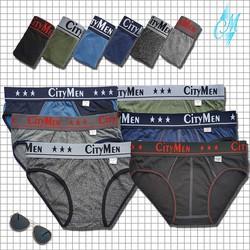 QUẦN LÓT NAM - Bộ 10 quần lưng CITYMEN nhiều màu