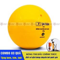 Bóng Chuyền Hơi Thi Đấu Combo 03 Quả Loại 200g và 250g - Tặng bơm tay mini, kim inox và lưới bóng