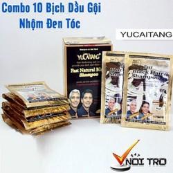COMBO 10 Bịch Dầu Gội Nhuộm Tóc Đen