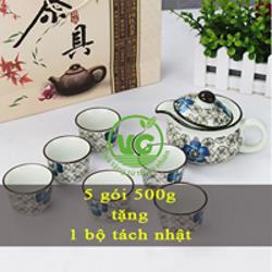 Trà Sâm Hồng - tra sam hong - Tặng Tách Nhật 250K