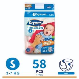 Tã dán Drypers Wee Wee Dry size S58 3-7kg - 1000520704