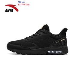 Giày chạy bộ Anta R 7775 Đen có đệm khí êm da chống nước bảo hành 2 tháng đổi mới trong 7 ngày