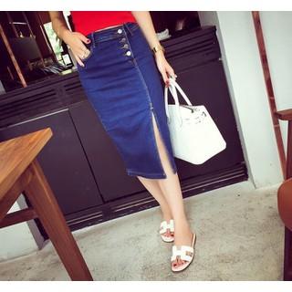 Chân váy jean xẻ - CV066 thumbnail