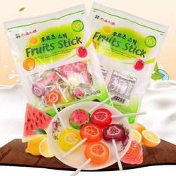Kẹo mút Hàn quốc Fruits Stick 75k gói 22 chiếc
