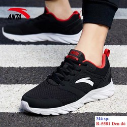 Giày chạy bộ Anta R 5581 Đen đỏ đi nhẹ êm vải mềm da chống nước bảo hành 2 tháng đổi mới trong 7 ngày