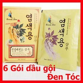 Dầu gội đen tóc nhân sâm Hàn quốc - 6 gói gội đen tóc Hàn