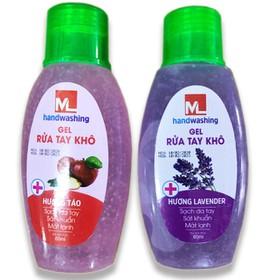 GEL rửa tay khô khử trùng và khử mùi M hương lavender và hương táo...1 chai x 60ml, HSD đến tháng 02-2023 - GEL rửa tay khôM