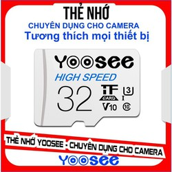 Thẻ nhớ MicroSDHC YOOSEE 32GB U3-Class 10