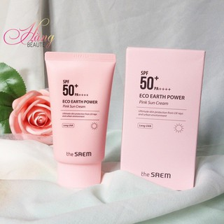Kem chống nắng The Saem Eco Earth Power Pink Sun Cream - CN010 1
