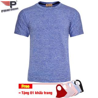 Tặng 1 khẩu trang vải 3D - Áo thun nam thể thao mùa hè Pigofashion GYM GM02 -fs03- nhiều màu - gm02tragKT.1 thumbnail