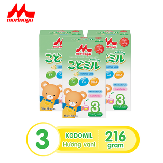 Combo 3 hộp Sữa Morinaga số 3 Kodomil Hương vani hộp 216g- cho bé từ 3 tuổi trở lên codedate022022 - kodomilvani-cb3 thumbnail