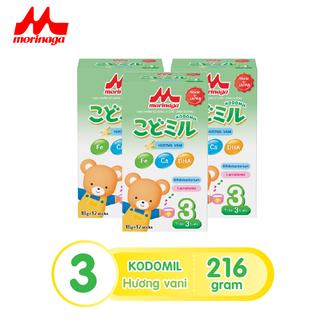 Combo 3 hộp Sữa Morinaga số 3 Kodomil Hương vani hộp 216g- cho bé từ 3 tuổi trở lên codedate022022 - kodomilvani-cb3 1