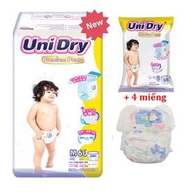 [Tặng thêm 4 miếng tã ] Tã quần Unidry Premium size M60 _ size L54 _ size XL48 - PR-S