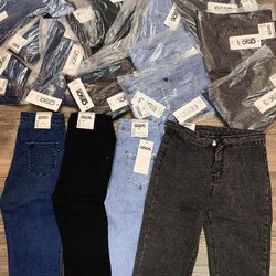 quần Jeans chun cạp cao