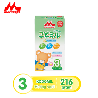 Sữa Morinaga số 3 Kodomil Hương Vani hộp 216g- cho bé từ 3 tuổi tách tem 02.2022 - Ctkmt3 1