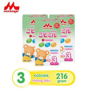 Combo 3 hộp Sữa Morinaga số 3 Kodomil Hương vani hộp 216g- cho bé từ 3 tuổi trở lên codedate022022 - kodomilvani-cb3 2