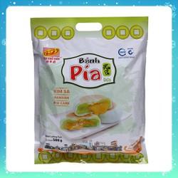 Bánh Pía Tân Huê Viên Kim Sa Mini Lá dứa trứng 480g[ khoảng 12 cái]