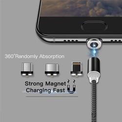 [Sales Khủng] Bộ Dây Cáp Sạc Từ Tính Hút Nam Châm Tốc Độ 2.4A 3 Đầu Chân YBD Cổng USB Type C Dùng Cho các Loại Điện Thoại, Máy Tính Bảng Chiều Dài 1M Đến 2M