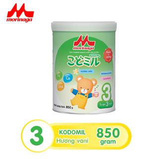 Sữa Morinaga số 3 Kodomil Hương Vani hộp 850g- cho bé từ 3 tuổi trở lên tách đai 032022 - 4902720140935 thumbnail
