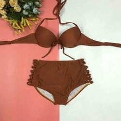 Bikini 2 mảnh áo gọng nâng ngực quần giấu bụng