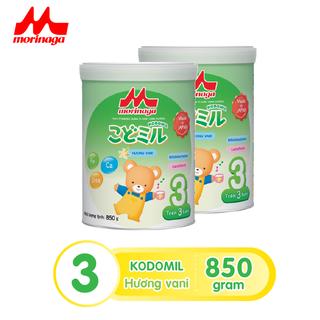 Combo 2 hộp Sữa Morinaga số 3 Kodomil Hương Vani hộp 850g- cho bé từ 3 tuổi trở lên date3.22 - kodomil850-cb2 thumbnail