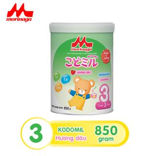 Sữa Morinaga số 3 Kodomil Hương Vani- Dâu hộp 850g tách đai 02.2022 - ctkmt3-5 thumbnail