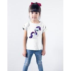 Áo thun trẻ em cotton in hình Rarity kiêu kì - cao cấp
