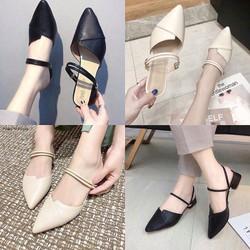Giày sandal cao gót 3p