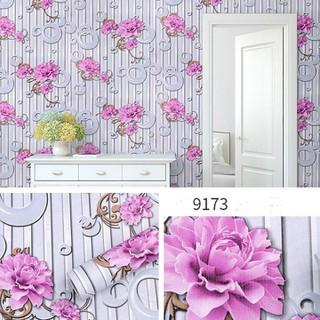 Decal dán tường - Giấy dán tường họa tiết 3D chống thấm nước có sẵn keo khổ 10M X 0.45m - giấy dán tường gộp 6 thumbnail