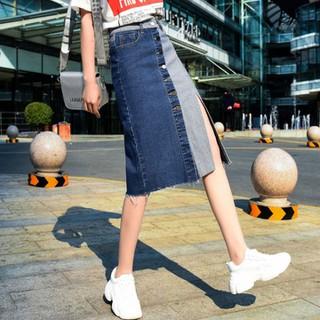 Chân váy jean phối mầu cá tính - Chân váy nữ CV-014 thumbnail