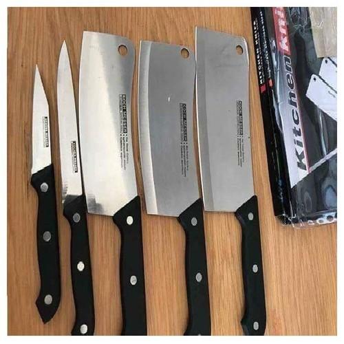 [kiểm hàng thanh toan] BỘ DAO KITCHEN KNIFE 5 MÓN MADE IN THÁI LAN - BỘ DAO THÁI