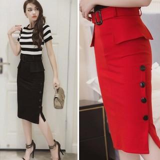 Chân váy bút chì đeo đai xinh xắn - Chân váy nữ CV-006 thumbnail