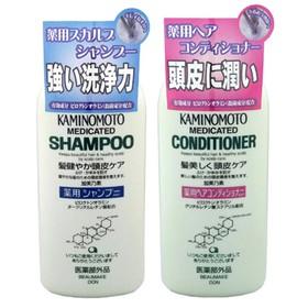 Bộ Dầu gội xả chống rụng tóc, kích thích mọc tóc Kaminomoto Nhật Bản - kamino1