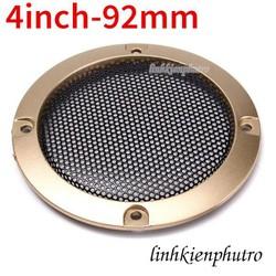 Khung bảo vệ loa dạng lưới đen viền vàng 92mm - 4inch