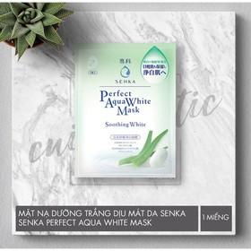 Mặt nạ dưỡng trắng dịu mát da Senka Perfect Aqua Soothing White Mask 25ml - mặt nạ senka 01